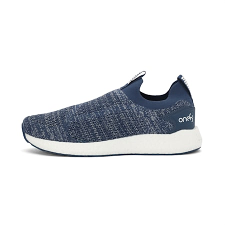 PUMA x one8 Virat Kohli NRGY Neko Slip-On Running Shoes, Dark Denim-Puma White, small-IND