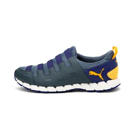 Osu v4 FM Walking Shoes, dk grey-navy blue-gold, small-IND