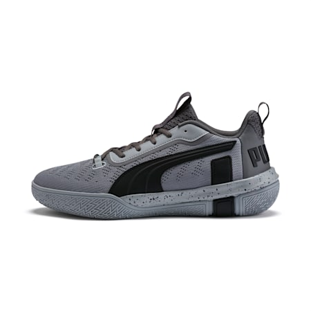 Legacy Low Basketball Shoes, Puma Black-Quarry, small