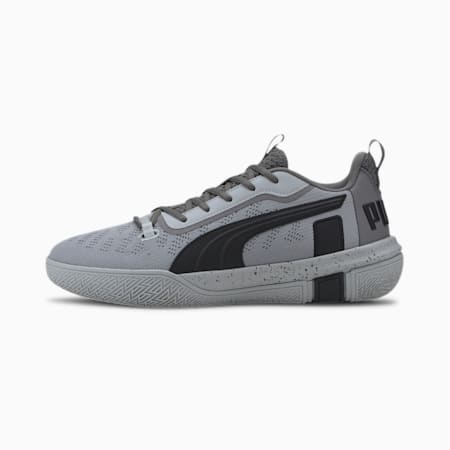 Legacy Low Men's Basketball Shoes, Puma Black-Quarry, small