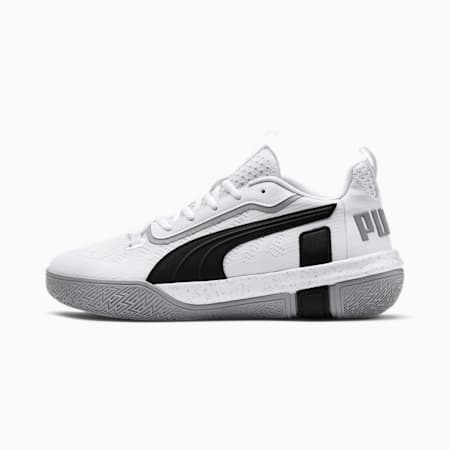 Legacy Low Basketball Shoes, Puma White-Puma Black, small