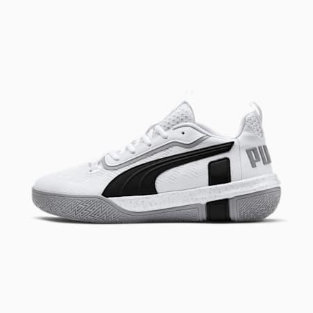 Legacy Low basketbalschoenen, Puma White-Puma Black, small