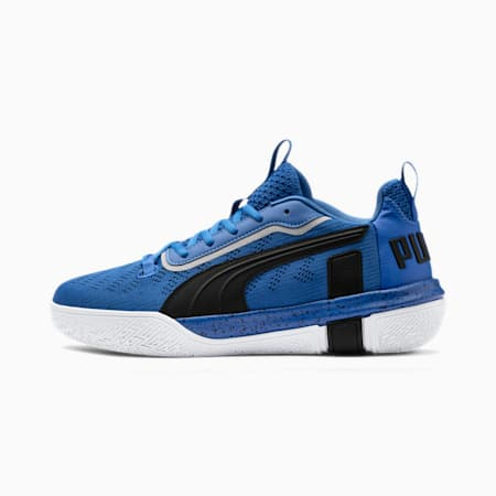 Legacy Low Men's Basketball Shoes, Strong Blue-Puma Black, small