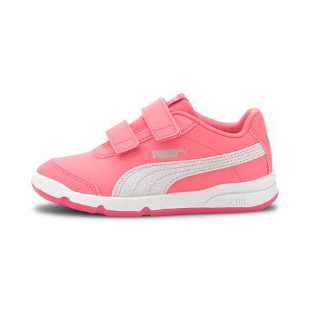 Dziewczęce buty sportowe Stepfleex 2 SL VE Glitz, Bubblegum-Puma Silver-White, small