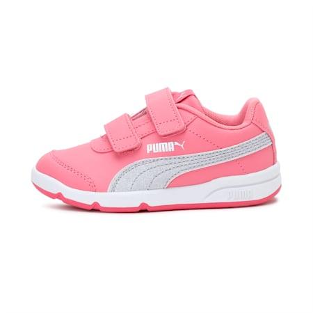 Stepfleex2 SLVE GlitzFS V PS Kid Girls' Shoes, Bubblegum-Puma Silver-White, small-IND
