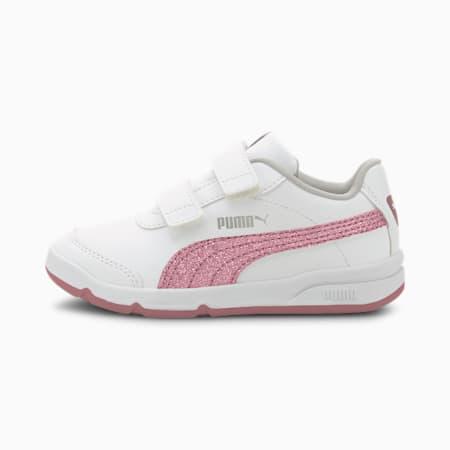 StepFleex2 SLVE Glitz Girls' Shoes, Puma White-Foxglove-Gray Violet-Puma Silver, small-IND