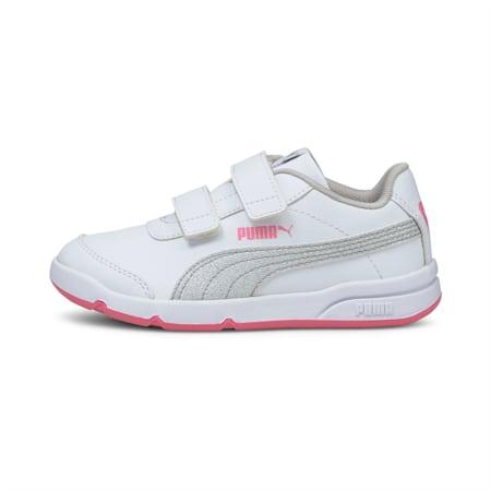 Stepfleex 2 SL VE Glitz Kid Girls' Trainers, White-Silver-Sachet Pink, small