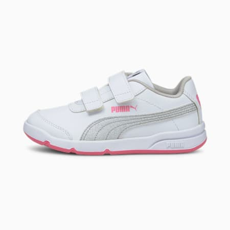 StepFleex2 SLVE Glitz Girls' Shoes, Puma White-Puma Silver-Sachet Pink, small-IND
