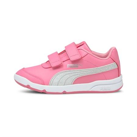 Stepfleex 2 SL VE Glitz Kid Girls' Trainers, Sachet Pink-Silver-White, small
