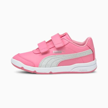 Stepfleex 2 SL VE Glitz Kid Girls' Trainers, Sachet Pink-Silver-White, small-GBR