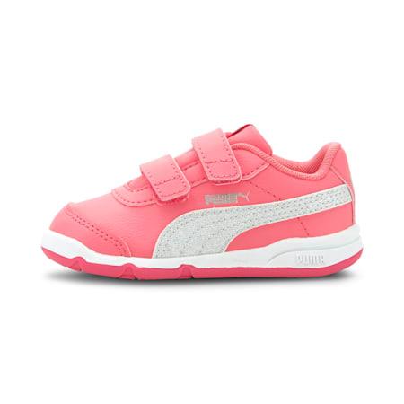 Stepfleex 2 SL VE Glitz Baby Girls' Shoes, Bubblegum-Puma Silver-White, small-IND