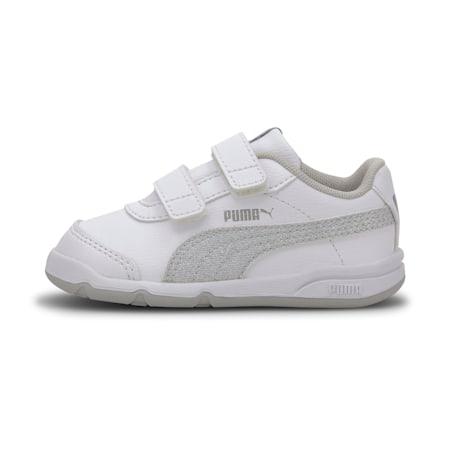 Stepfleex 2 SL VE Glitz Baby sportschoenen voor meisjes, White-Silver-Gray Violet, small