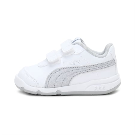 Stepfleex 2 SL VE Glitz Baby Girls' Shoes, White-Silver-Gray Violet, small-IND