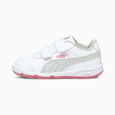 Stepfleex 2 SL VE Glitz Babies Mädchen Sneaker, White-Silver-Sachet Pink, small