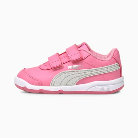 Stepfleex 2 SL VE Glitz Baby Girls' Trainers, Sachet Pink-Silver-White, small-GBR
