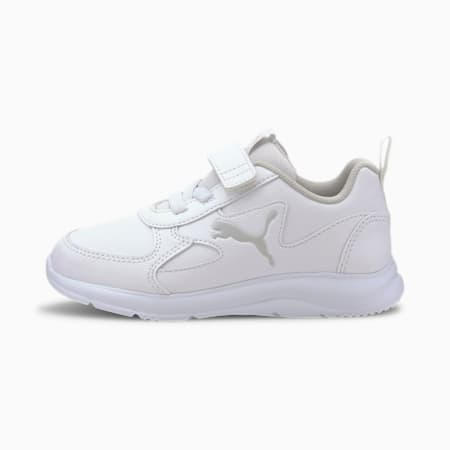 PUMA Fun Racer Kid's Shoes, Puma White-Gray Violet, small-IND