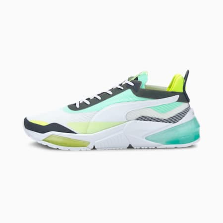 LQDCELL Optic XI Running Shoes, Puma White-G Glimmer-Y Alert, small