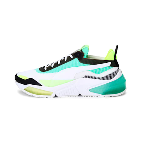 LQDCELL Optic XI Running Shoes, Puma White-G Glimmer-Y Alert, small-IND
