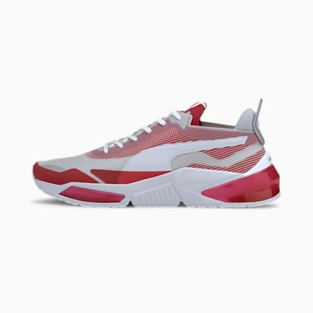 LQDCELL Optic XI Running Shoes, Gray Violet-High R Red-White, small-IND