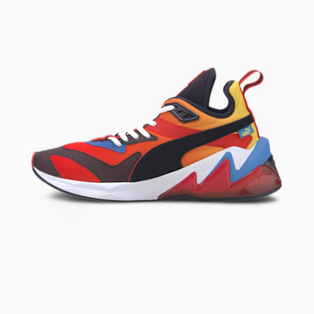 LQDCELL Origin XI Men's Training Shoes, Hi Risk Red-P Blue-Medowlark, small