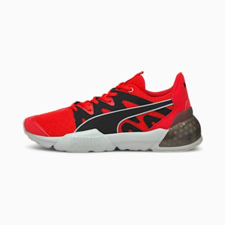 Zapatos de entrenamiento CELL Pharos para hombre, Poppy Red-Black-Gray Violet, pequeño