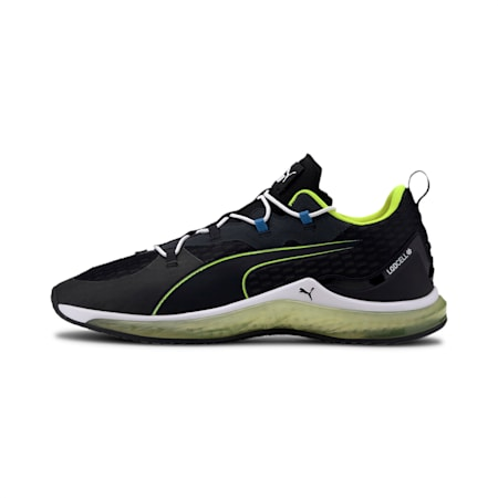 LQDCELL Hydra Training Shoes JR, Puma Black-Yellow Alert, small