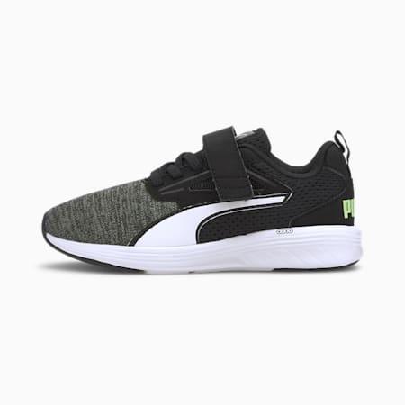 Rupture NRGY Kids' Trainers, Puma Black-Puma White-Sharp Green, small-SEA