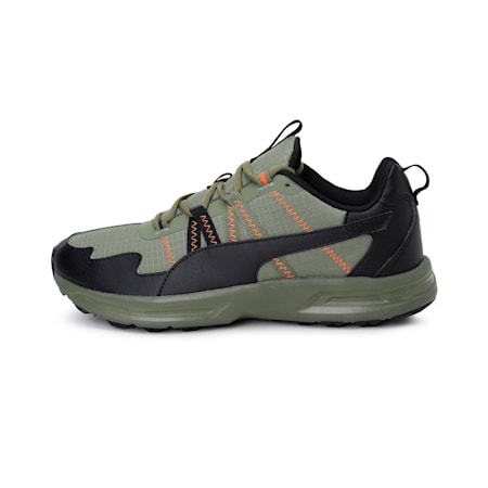 Escalate Running Shoes, Bnt Olv-Pa Blk-Vbrt Orge, small-IND