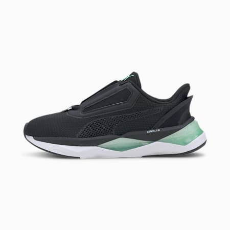 LQDCELL Shatter XT NC Women's Training Shoes, Puma Black-Green Glimmer, small-IND
