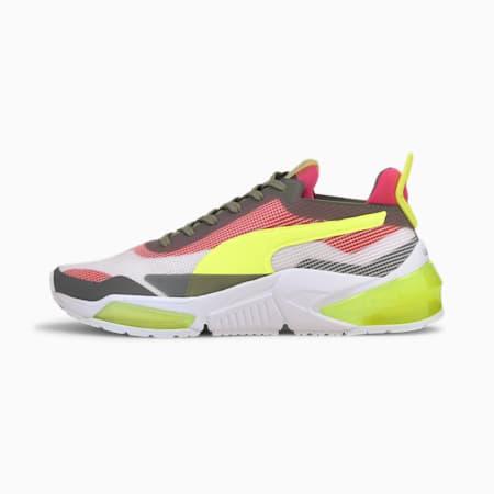 LQDCELL Optic XI Women's Training Shoes, White-Ultra Gray-Yellow, small