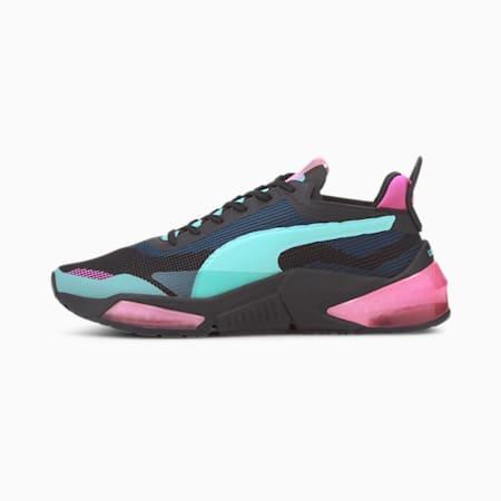 Optic XI LQDCELL Women's Running Shoes, Puma Black-ARUBA BLUE-Pink, small