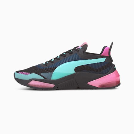 Optic XI LQDCELL hardloopschoenen voor dames, Puma Black-ARUBA BLUE-Pink, small