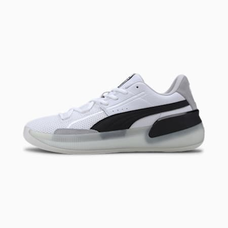 Clyde Hardwood Basketball Shoes, Puma White-Puma Black, small