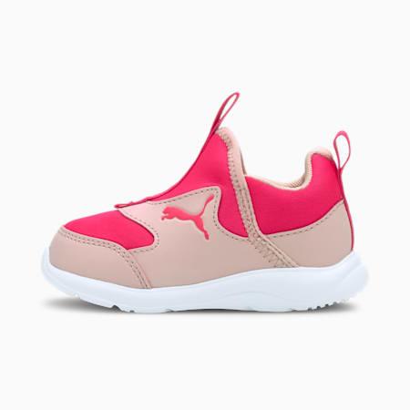 Fun Racer Slip-On Babies' Shoes, Peachskin-Glowing Pink, small-SEA