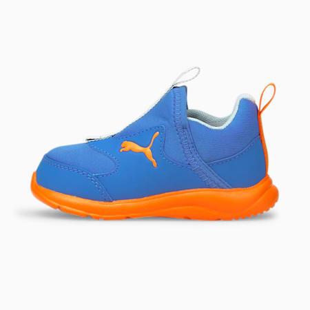 Zapatos sin cordones Fun Racerpara bebés, Nebulas Blue-Vibrant Orange, pequeño