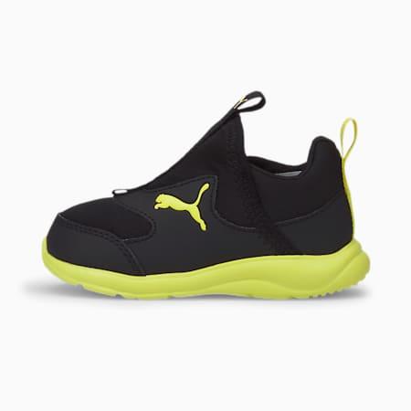 Zapatos sin cordones Fun Racerpara bebés, Puma Black-Nrgy Yellow, pequeño
