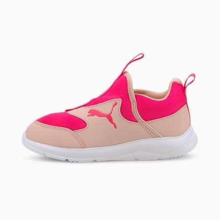 Fun Racer Slip-On Kids' Shoes, Peachskin-Glowing Pink, small-SEA