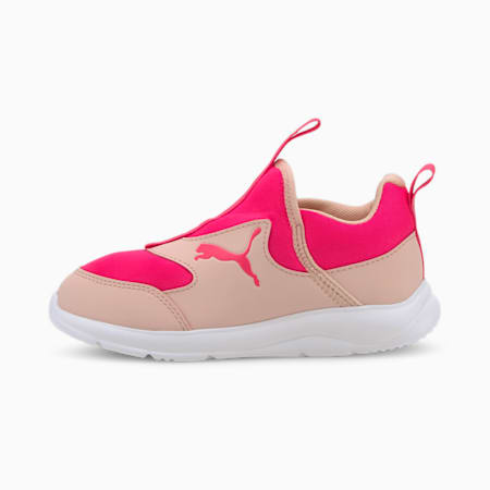 Fun Racer Slip-On Kids' Shoes, Peachskin-Glowing Pink, small-SEA