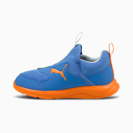 PUMA Fun Racer Slip-On Kids' Shoes, Nebulas Blue-Vibrant Orange, small-IND