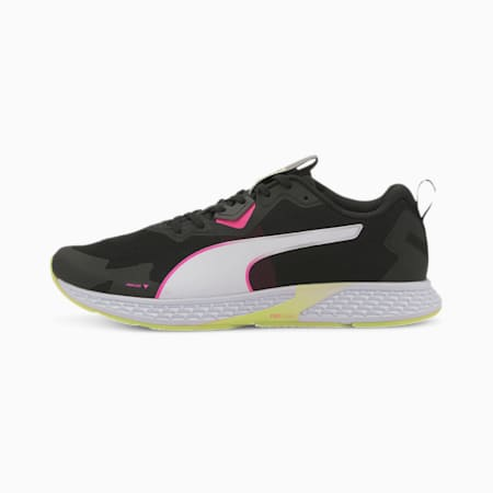 SPEED 500 2 Women's Running Shoes, Puma Black-Fizzy Yellow, small