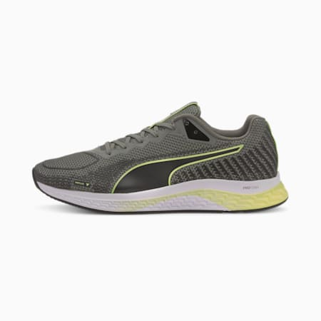 SPEED SUTAMINA 2 Men's Running Shoes, Gray-Black-Fizzy Yellow, small