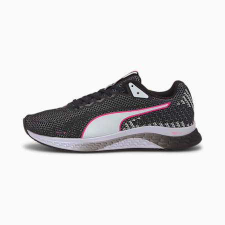 SPEED Sutamina 2 Women's Running Shoes, Black-White-Luminous Pink, small