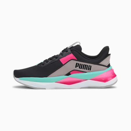 LQDCELL Shatter XT Geo Women's Training Shoes, Puma Black-Gray Violet-Lumin, small