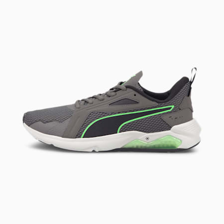 LQDCELL Method Men's Training Shoes, CASTLEROCK-Puma Black-Elektro Green, small-IND