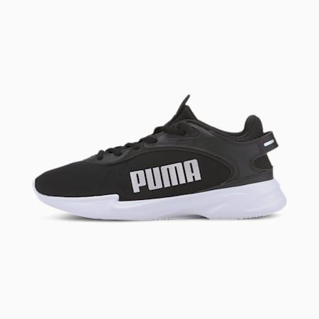 Jaro Fresh Women's Running Shoes, Black-White-Metallic Silver, small-IND