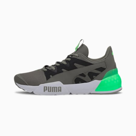 CELL Pharos Neon Men's Running Shoes, Ultra Gray-Puma Black- Green, small-IND