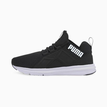 Enzo Edge Mesh Men's Running Shoes, Puma Black-Puma White, small-IND