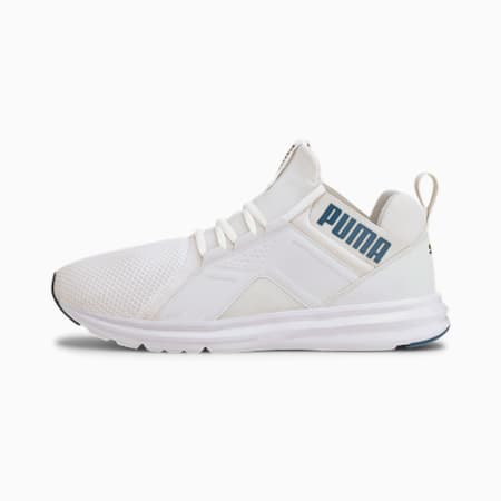 Enzo Edge Mesh Men's Running Shoes, Puma White-Digi-blue, small