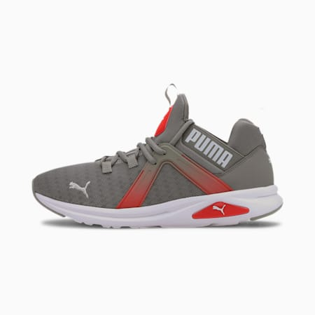 Enzo 2 Fade Men's Running Shoes, Ultra Gray-High Risk Red, small-IND