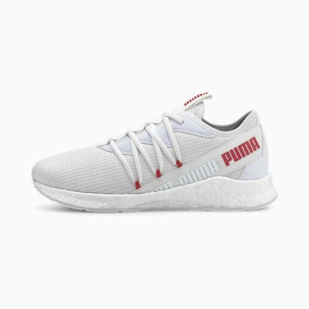 NRGY Star New Core Running Shoes, Puma White-High Risk Red, small